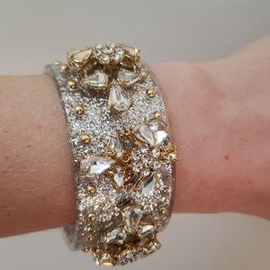 J.Crew silver rhinestones bracelet cuff